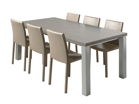 Set quadra gala tafels en stoelen meubelen gies okegem - Tafel en stoelen dineren ...