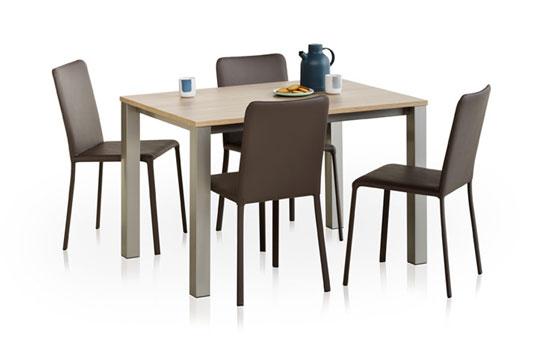 Set verona grinta tafels en stoelen meubelen gies okegem - Tafel en stoelen dineren ...